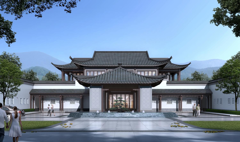 绿城·桃李春风项目售楼部效果图